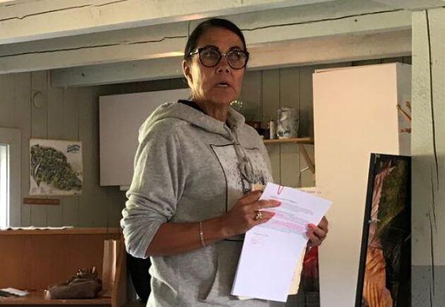 Maja Olausson var med på LRF:s träff och berättade för förvånade politiker om hur markägare behandlas i minerallagens namn.