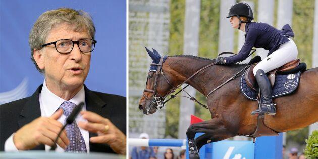 Gates dotter tävlar på Stockholm horse show