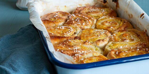 Långpannebullar – kladdig butterkaka i bullformat