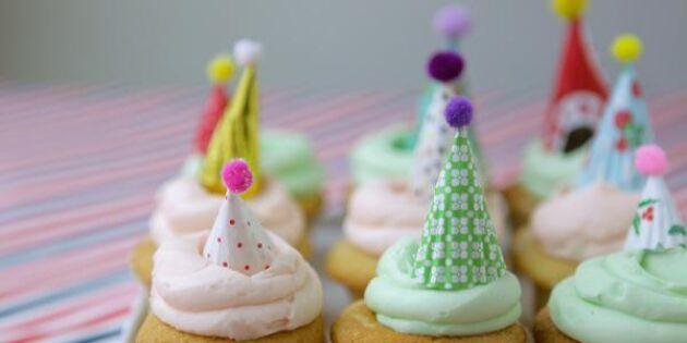 Fixa kalasfina partyhattar till dina muffins