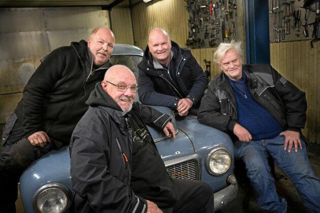 Kompisgänget, från vänster: Magnus Holmer, Rickard Nilsson, Tommy Månsson och Bengt Svensson.