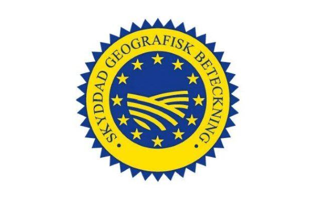 Märket för Skyddad geografisk beteckning.