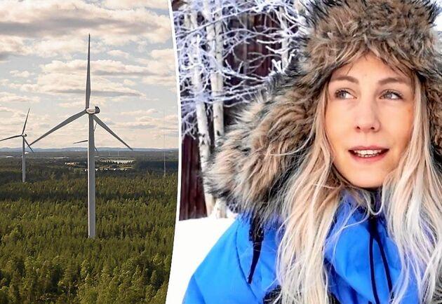 Jonna Jinton har ångest inför politikernas beslut om den nya vindkraftsparken.