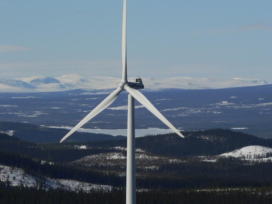 Det bygdeägda vindkraftverket i Offerdal.