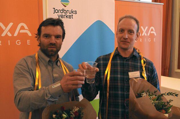 Magnus Carlman och Martin Lindeqvist ingick i vinnarlaget för mjölkkostall.