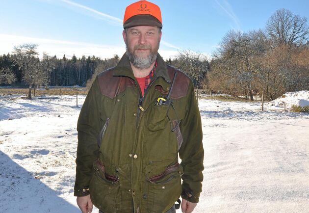 Christer Eriksson fruktar att vildsvinsstammen ska växa ytterligare i år.
