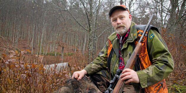 Jägaren som är vildsvinens skräck