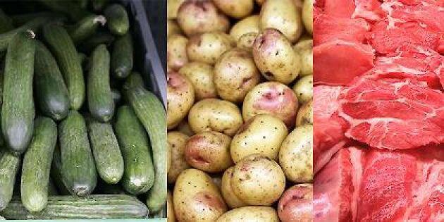 Gurka, Kravpotatis och griskött har blivit dyrare.