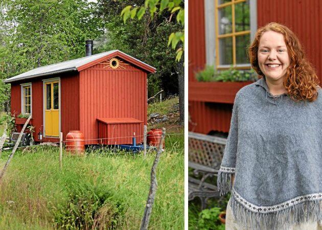 Paula bor i ett minihus på 13 kvadrat – utan el och vatten