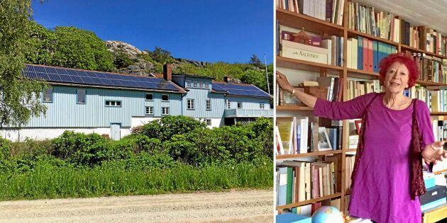 Ulla har förvandlat den gamla ladugården på Orust till ett konstnärsparadis!