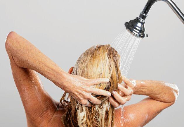 För frekventa duschar är inte att rekommendera.
