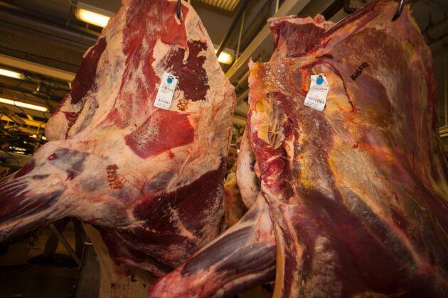 Efterfrågan på nötkött har påverkats mer än på griskött när inköpen från hotell, restaurang och catering i det närmaste har försvunnit helt.