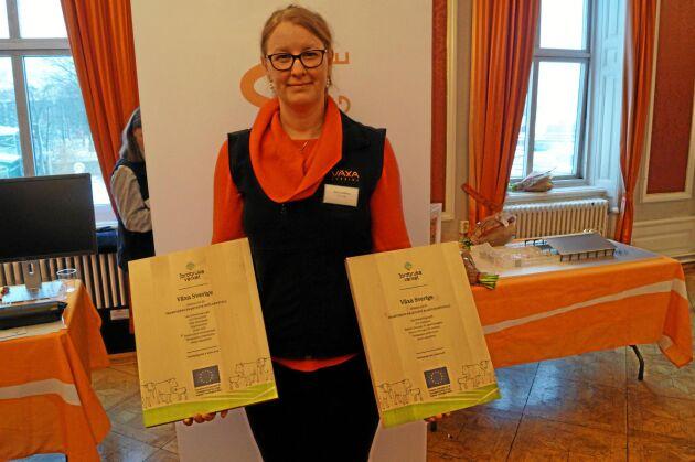 Sara Lundberg, Växa Sverige, var projektledare i båda vinnarprojekten.
