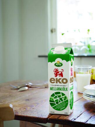 Priset för ekomjölk sänks i Sverige och Danmark, och fortsätter vara under press i övriga Europa.