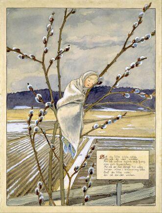 Elsa Beskows teckning av den frusta lilla videungen är lika känd och älskad som barnvisan den illustrerar.