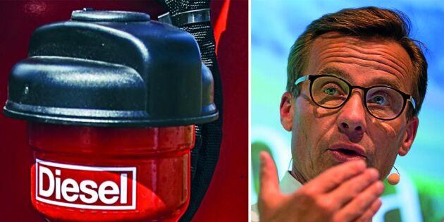 (M) vill sänka dieselskatten