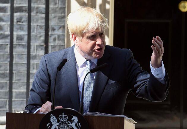 Storbritanniens nya premiärminister Boris Johnson utanför 10 Downing Street.