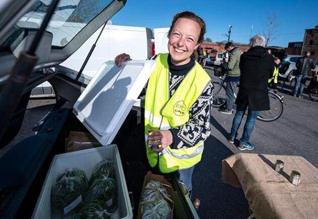 Cecilia Ward från Landet Oss, driver numera en gård utanför Höör tillsammans med kollegan Monika Bengtsson. Denna månad är duon även administratörer för rekoring Malmö och de upplever en markant ökning av antalet producenter som vill sälja sina produkter sedan coronavirusets utbrott.
