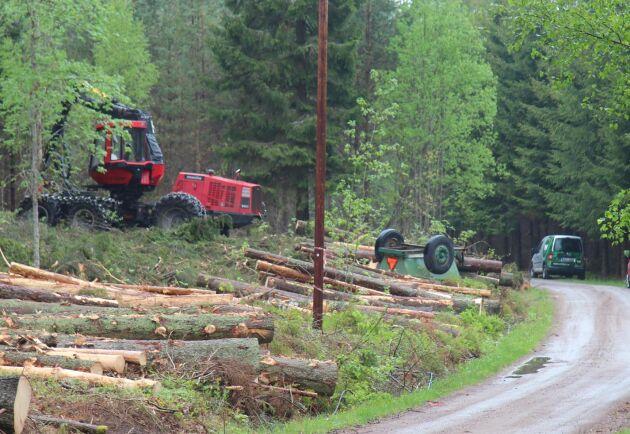 Stöld ur skogsmaskin i Norberg. Arkivbild.