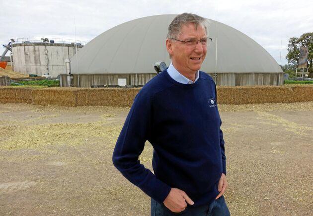 Tror på grisarna. Trots oron efter Brexit ser lantbrukaren George Gittus ljust på framtiden. Särskilt bra tror han att det kommer gå för grisproduktionen.