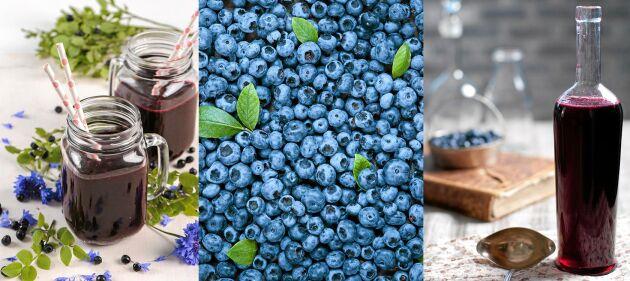 Sommarens godaste saft gör du av blåbär.