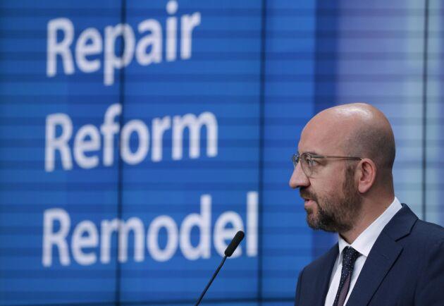 Charles Michel, Rådets belgiska ordförande, presenterade sitt senaste kompromissförslag fredagen den 10 juli.