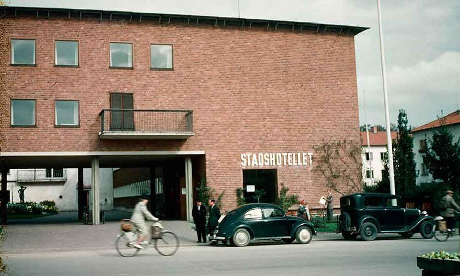 Bild från 1950-talet på Stadshotellet i Karlskoga.