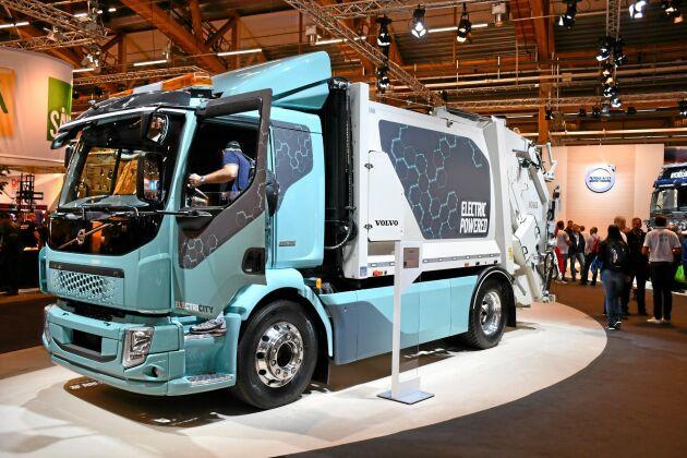 Volvo elkonceptbil som är en del av Electricity, ett projekt i Göteborg kring framtida energilösningar för tunga fordon i stadsmiljö.