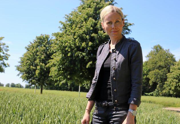 Anna Schreil, produktionsdirektör på The Absolut Company, får använda vete som inte kommer från Skåne till vodkan.