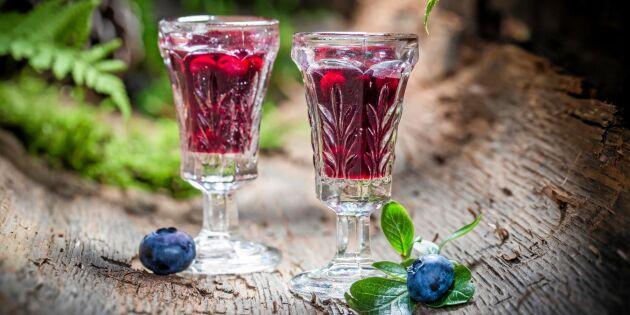 Hälsosam blåbärsshot med grapefrukt