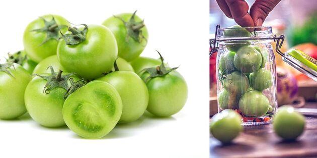 Så lägger du in gröna tomater – enkelt och supergott