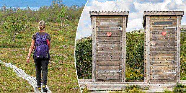 Fler turister skapar problem – så går du på toaletten på fjället