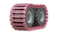 Rosa skogsmaskinbandet ger forskningspengar