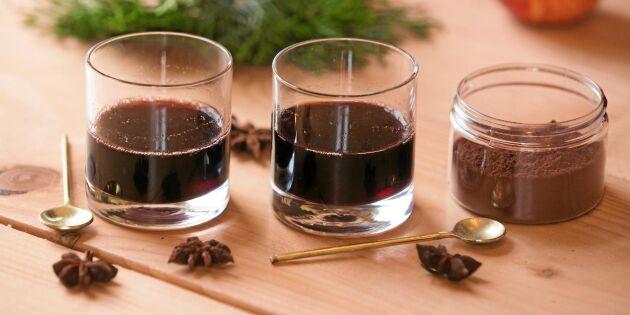 Så gör du julens ljuvligaste glögg – med chokladsmak!