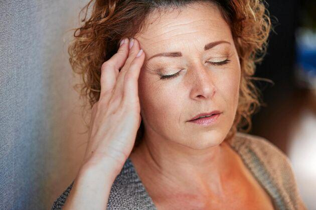 Ofta sitter värken på ena sidan av huvudet vid migrän.