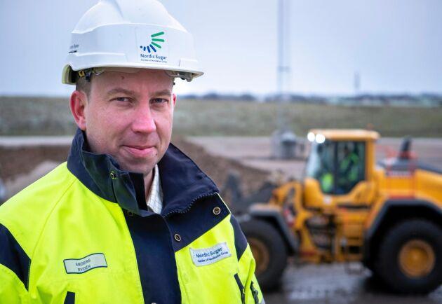 """Godkänt. I onsdags levererades de sista betorna i snålblåsten. """"Betmängden har blivit mindre i år men sedan kompenseras det av högre sockerhalt"""", säger Anders Rydén, chef för Agricenter på Nordic Sugar i Örtofta."""