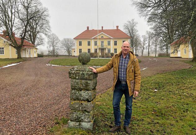 Fredrik Solgesjö köpte jordbruksfastigheten med högst totalbelopp 2019. Prislappen blev 60 miljoner kronor för Ryningsholms gård utanför Eksjö.