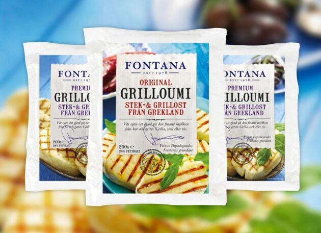 Grilloumi är Fontanas varumärkesskyddade stekost.