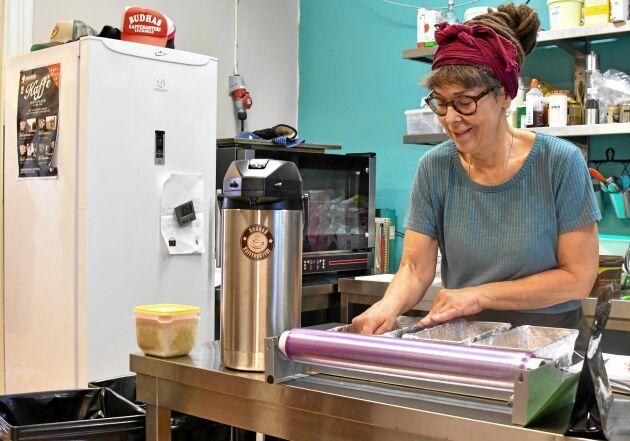 Kaffet är inte det enda som drar. Katarinas bakverk och mackor är kända på stan.