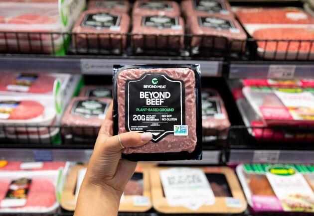 Beyond Meat gjorde en nettovinst på 3,1 miljoner dollar under tredje kvartalet 2019. Arkivbild.