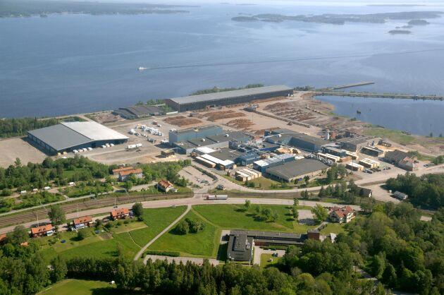 Här vid Kastets sågverk i Gävle ska den nya pyrolysanläggningen ligga. Byggstart är planerad till 2019.