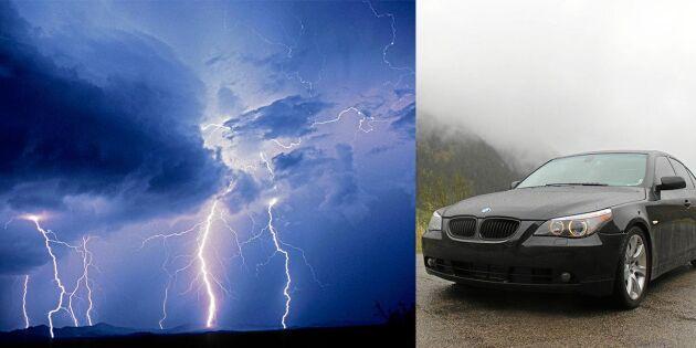 Därför är det INTE säkert att sitta i bilen när åskan går