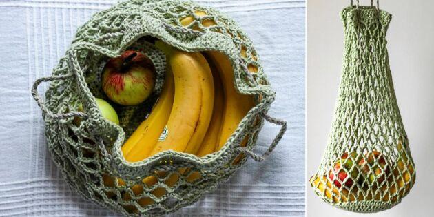 Virka en nätkasse för frukt och grönt