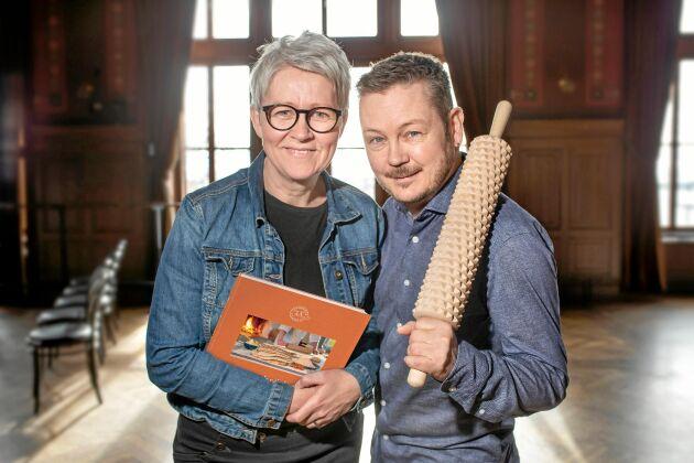 """Anki Berg och Marcus Bodin har skrivit boken """"Tunnbröd: En läcker historia""""."""
