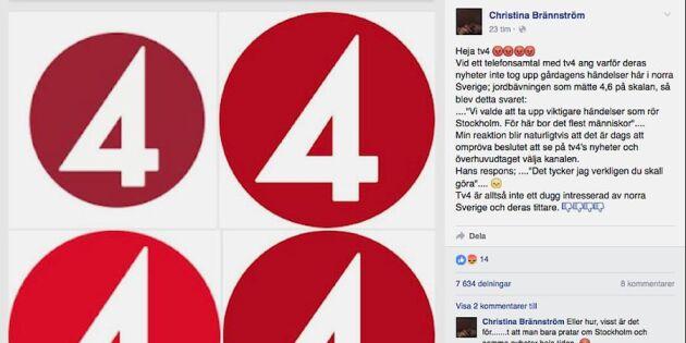Efter tittarkritiken: TV4 gör en jordskalvspudel