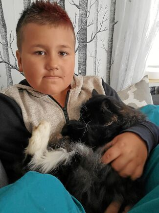Edward är en speciell katt för Anna och sonen Jacob, så sorgen var stor när han försvann.