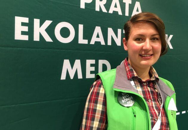 Vi vill ha mer miljöersättningar, hellre än stöd utan motprestation, säger Sofia Solén-Norrlin, ansvarig för marknadsfrågor och kommunikation på Ekologiska Lantbrukarna.