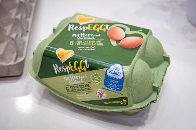 I butik. Under varumärket Respeggt säljs redan företagets egna ägg i Berlinområdet.