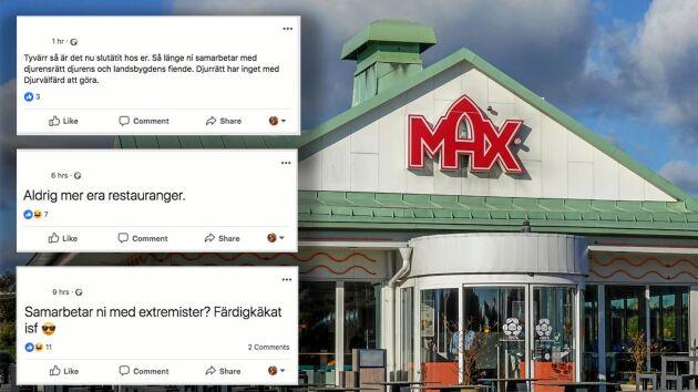 Kritiken lät inte vänta på sig efter att Max gått ut med att man inleder ett samarbete med Djurens rätt. Nu backar hamburgerkedjan och avbryter samarbetet innan det hunnit börja.