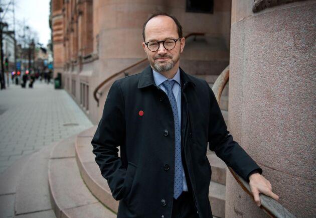 "Infrastrukturminister Tomas Eneroth (S) beskriver den nya lagen som ""en svensk seger"". Arkivbild."